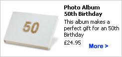 50th Birthday Gift - Personalized Photo Album