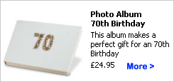 70th Birthday Photo Album Gift