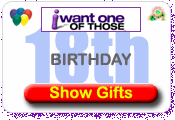 18th Birthday Gifts and Present Ideas